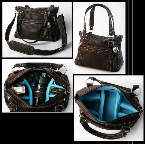 Beautiful Womens Dslr Camera Bag Purse Van Gogh Irises Messenger Bag