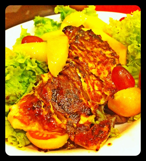 grilled chicken fruity salad