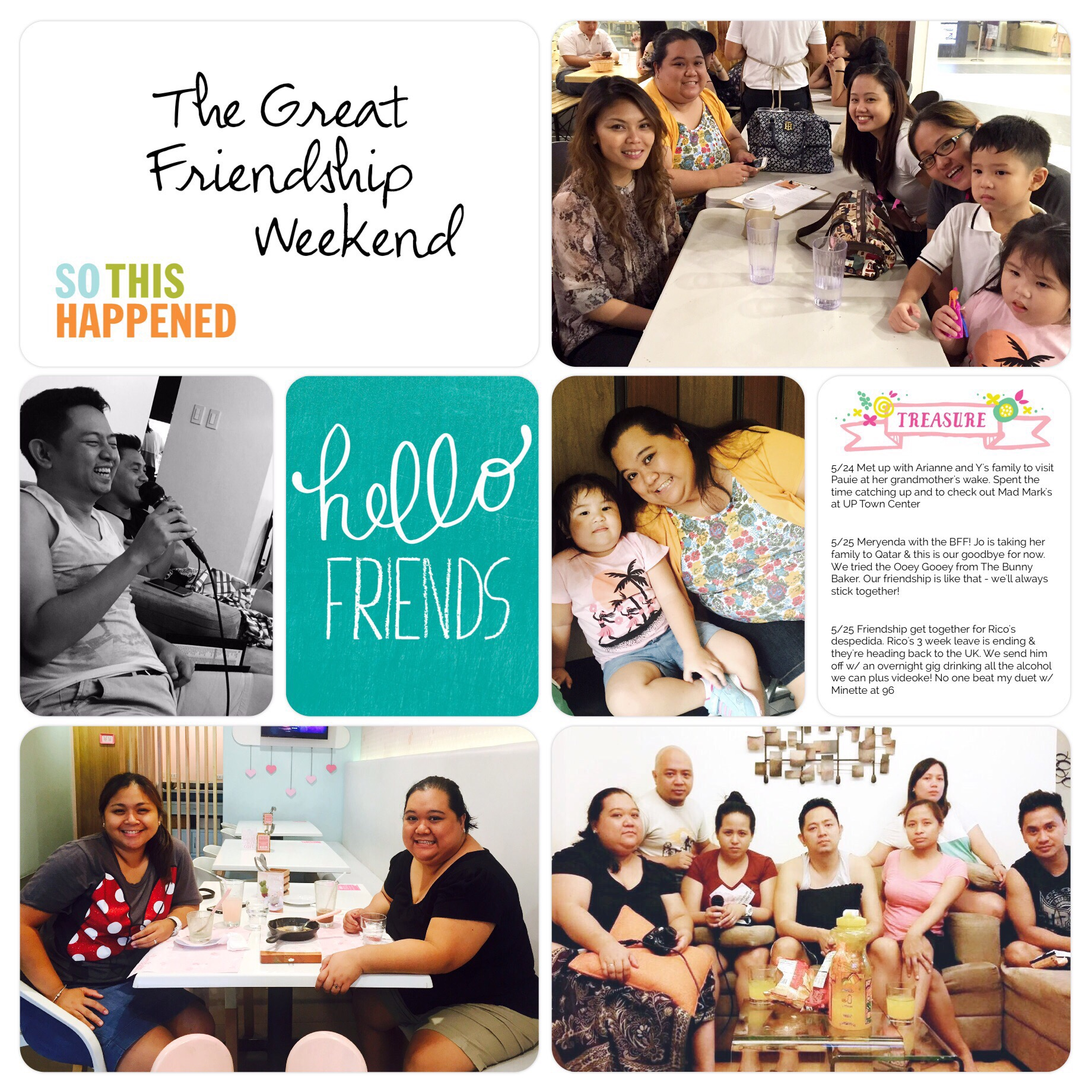Project Life page - The Great Friendship Weekend